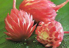 Radish Carved flower