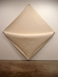 Robert Morris: Untitled, 1976-2008. Felt with metal grummets. 108 x 103 x 9 in . © Sonnabend Gallery.
