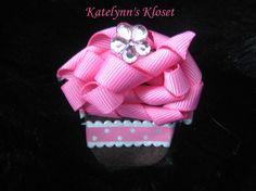 Toddler Cupcake Hair Clip  Baby Hair Clip  by katelynnskloset, $5.50
