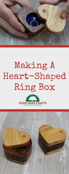 Check out this easy-to-follow video on making a simple ring box. This box is heart-shaped and will make a great gift for any occasion of the year!