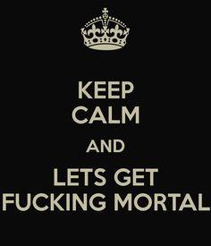 New slogan for this weekend!!!!!! #geordieshore #fuckingmortal