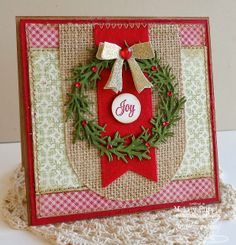 A Paper Melody: Joy Christmas Wreath