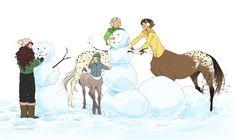 Sawyer, Hamish, Fabian, and Pistachio