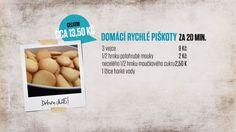 Domácí piškoty podle Ládi Hrušky 20 Min, Dessert Recipes, Bread, Baking, Drinking, Beverage, Drink, Brot, Bakken