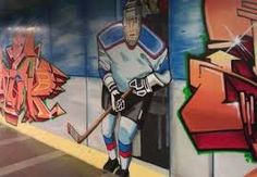 Image result for ice hockey graffiti