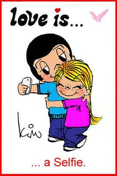 Love is… a Selfie. « Love is… Comics by Kim Casali Love Is Cartoon, Love Is Comic, What Is Love, I Love You, My Love, Mickey Bad, Love My Husband, Romantic Love Quotes, Love Notes