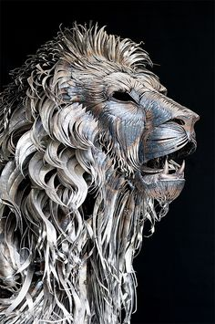 Metal Lion Sculpture by Selçuk Yılmaz
