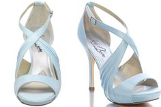 baby blues heels | Contemporary blue wedding shoes for the modern bride! – Wedding Clan