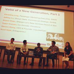 """Christina Ling gets ready to kick off """"Voice of a new generation"""" #WITnext #traveljobcamp #Webintravel #travel #SMU #Singapore #university - @webintravel- #webstagram"""