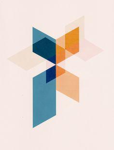 Geometric loveliness from Belgian artist Jelle Martens