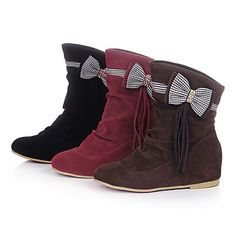 Women's Wedge Heel Fashion Boots Ankle Boots (More Colors) – CAD $ 41.68