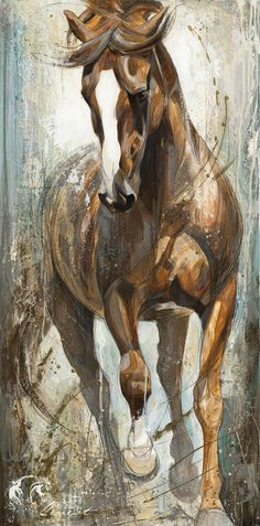Reproductions giclées sur toile - giclée prints on canvas — Elise Genest Horse Drawings, Animal Drawings, Art Drawings, Horse Oil Painting, Knife Painting, Horse Artwork, Equine Art, Western Art, Animal Paintings