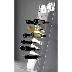Acrylic leaning wine rack