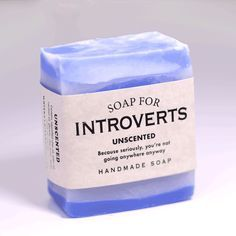 Soap for introverts LOL! 10 hilarious soaps by Whiskey River Soap Infp, Ravenclaw, Whiskey River Soap, Gag Gifts Christmas, Santa Gifts, Handmade Christmas, Santa Stocking, Diy Christmas, Christmas Treats