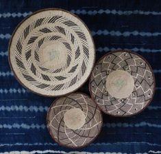 Group of 7 Binga Wall Baskets - African Wall Baskets, Wall Platter Group Wall Basket, Baskets On Wall, Storage Baskets, Basket Weaving, Hand Weaving, Wall Accessories, Safari Theme, Fixer Upper, Boho Decor