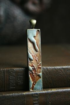 forest finery 33 - simply oak - orange oak leaf stick pendant - simple truths - MADE TO ORDER. $18.00, via Etsy.