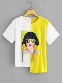 29 Shirt Blouses To Not Miss Today - Fashion New Trends - Melissa Diy Fashion, Fashion Outfits, Fashion Design, Stylish Outfits, Fashion Women, Fashion Ideas, Shirt Blouses, Tee Shirts, Paint Shirts