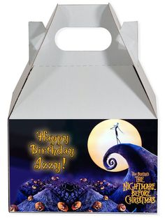 World of Pinatas - The Nightmare Before Christmas Personalized Gable Box (set of 6), $11.99 (http://www.worldofpinatas.com/the-nightmare-before-christmas-personalized-gable-box-set-of-6/)