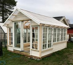 """Explore our site for additional information on """"greenhouse plans design"""". It is actually an exceptional location to find out more. Old Window Greenhouse, Diy Greenhouse Plans, Backyard Greenhouse, Outside Living, Outdoor Living, Garden Structures, Outdoor Structures, Garden Cottage, Diy Pergola"""
