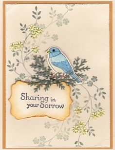 Sympathy blue bird by Mere Deaux - Cards and Paper Crafts at Splitcoaststampers