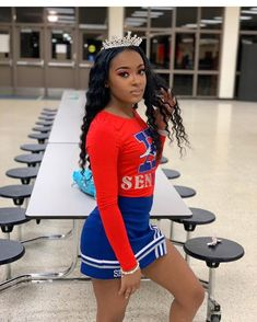 "WATCH MY STORY💛 ! on Instagram: ""Do y'all cheer?🏆 ~ FOLLOW @baddies.popping IF VIEWING 💘 - #explorepage #viral #trending #views #explore #queenandclarence #selfcarefirst…"" Cute Cheer Pictures, Cheer Picture Poses, Cheerleading Pictures, Cheer Pics, Cheer Stuff, Cheer Outfits, Cute Swag Outfits, Dance Outfits, Senior Cheerleader"