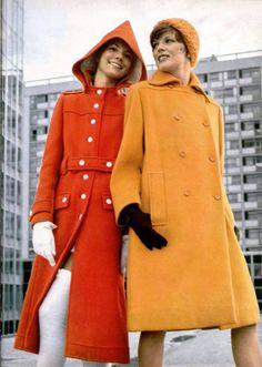 Courreges and Miss Dior coats L'officiel magazine 1971