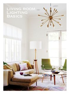 Living Room Lighting Basics from @Anne Sage on Lamps Plus