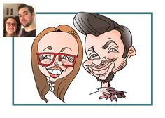 Free wedding caricature Kent London, Wedding Caricature, Caricature From Photo, London Wedding, Pen And Paper, Free Wedding, Corporate Events, First Love, Product Launch