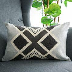 Lananas Lumbar Small Decorative Throw Pillows for Bed Grey Pillow Covers Embroidery Boho Grey Pillow Covers, Grey Pillows, Grey Bedding, Boho Pillows, Boho Bedding, Couch Covers, Decorative Pillow Covers, Decorative Throw Pillows, Geometric Embroidery