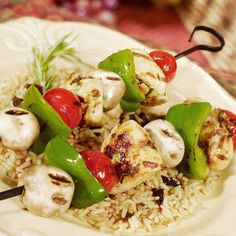 Healthy Recipes for Weight Loss | Tuscan-Style Grilled Chicken Kebabs