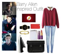 """""""Barry Allen Inspired Outfits"""" by sophie-irwin ❤ liked on Polyvore featuring ONLY, Converse, The Cambridge Satchel Company, Larsson & Jennings, Dogeared, tarte, GetTheLook, flash and barryallen"""