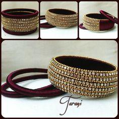 Hand Made Designer bangles Silk Thread Bangles Design, Silk Bangles, Silk Thread Earrings, Thread Jewellery, Bangles Making, Jewellery Making, Diy Jewellery, Fashion Jewellery, Silver Jewellery