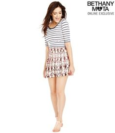 Striped Scoop-Back Crop Top - Summer Bethany Mota Collection