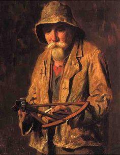 Sea Captain With Mariner's Quadrant - Lemuel D. Eldred (1848 – 1921)