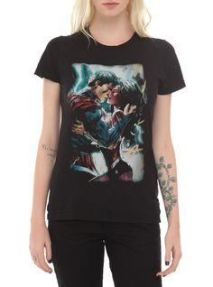 DC Comics Superman And Wonder Woman Kiss T-Shirt