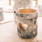 The Wedding of My Dreams - Birch Bark Vase Rustic Wedding Table Decoration