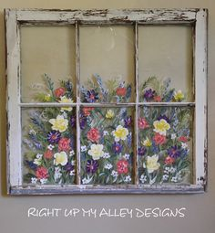 Handpainted Old Windows 1st RESERVED-JULIE R,Various window ideas,Mr and Mrs window,Chicken wire,Wedding,gifts,love,cute,shabby chic,cottage by RightUpMyAlleyDesign on Etsy