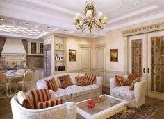 Классический стиль в интерьере: гостиные, спальни, кухни, квартиры, фото