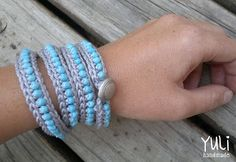 free crochet beaded bracelet pattern