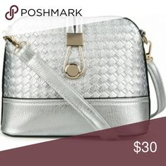 Silver crossbody bag Super cute small silver crossbody bag! (Brand for exposure) Dooney & Bourke Bags Crossbody Bags