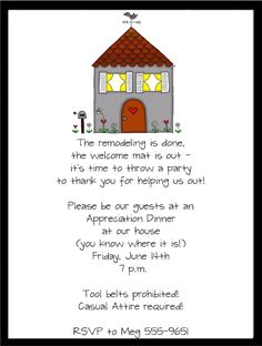 Printable Housewarming Invitations Templates   House
