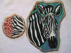 Clothing Patch Zebra large Zebra and Giraffe by GrapesAndBananas, $11.00 #zebra #giraffe #patch #patches #iron on