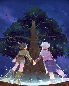 gon~killua~hxh~hunter x hunter Hisoka, Alluka Zoldyck, Gon Killua, Hunter X Hunter, Hunter Anime, Manga Anime, Anime Art, Ging Freecss, Chibi