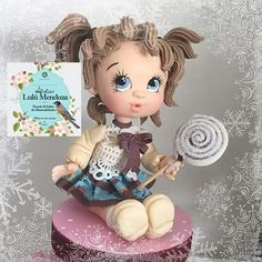 Nena Fondant People, Clay Art, Clay Clay, Biscuit, Clay Figurine, Pasta Flexible, Cold Porcelain, Gum Paste, Clay Crafts