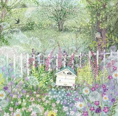 bumblebee hives in a cottage garden