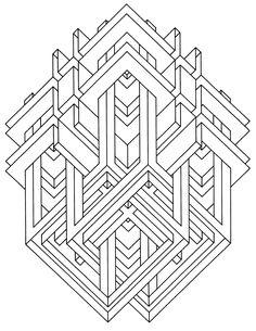 Geometric Coloring Books Lovely to Print This Free Coloring Page Coloring Op Art Jean Free Adult Coloring, Adult Coloring Book Pages, Printable Coloring Pages, Coloring Pages For Kids, Coloring Books, Geometric Coloring Pages, Pattern Coloring Pages, Mandala Coloring Pages, Op Art