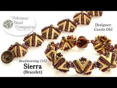 Sierra Bracelet free jewelry-making tutorial, with all supplies from Potomac Bead Company (www.potomacbeads.com