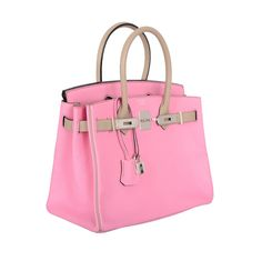 SPECIAL ORDER HERMES BIRKIN BAG 30cm BUBBLEGUM PINK & GRIS T CHEVRE leather