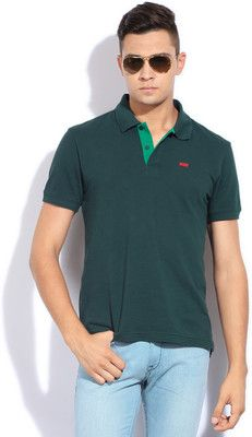 Buy Levi's Solid Men's Polo Neck T-Shirt Online at Best Offer Prices @ Rs. 999/- In India.