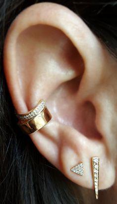 Diamond Dagger Earring - The EarStylist by Jo Nayor - 2